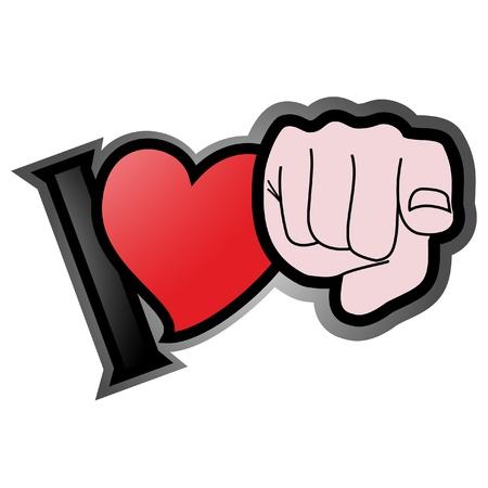 一日のバレンタインのための愛のメッセージ  イラスト・ベクター素材
