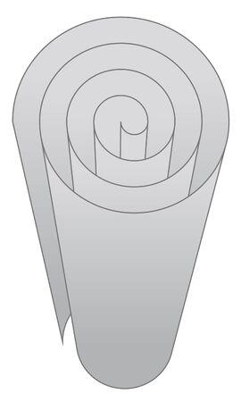 Vector illustration of paper roll