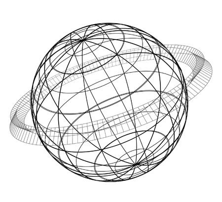 Creative design of abstract planet Stock Vector - 11822677