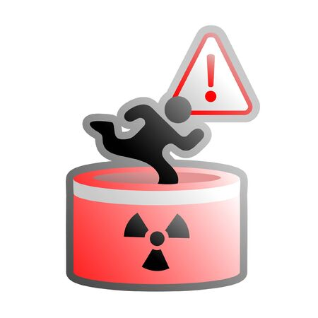 worked: Creative illustration of radiation danger