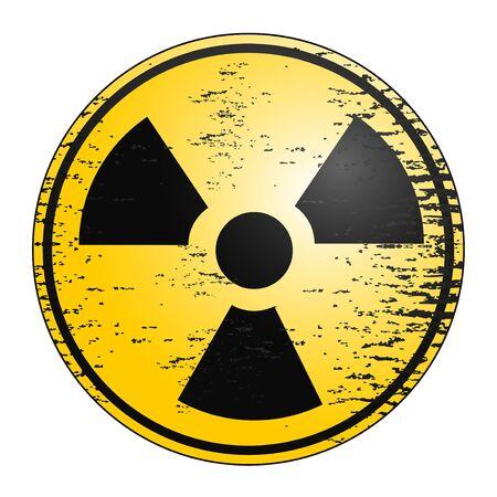 Creative design of radiation icon Vector
