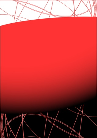 a4 background: Creative design of artistic red frame