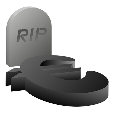 Design of dead euro symbol Vector