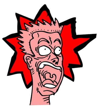 terror: Hand drawing red terror human