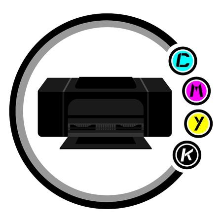 Design of color print icon Stock Vector - 11822437