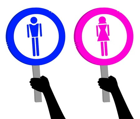Design of man and woman signs Stock Vector - 11822675