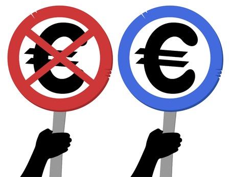 booming: Desing of european circle sign Illustration