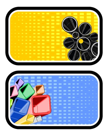 Design of two creative labels Vector