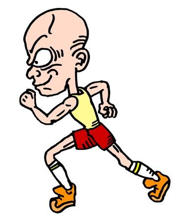 Illustration of speed man running Stock Vector - 11822651