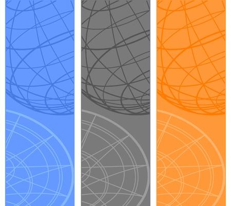 수직의: 세 가지 색상 수직 배너 디자인