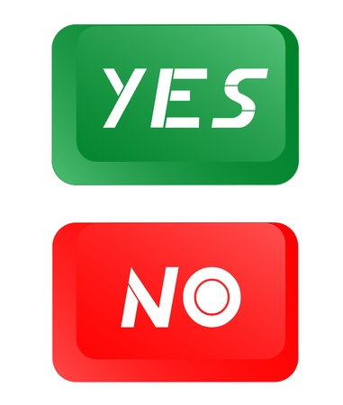Yes and no buttons design Stock Vector - 11822847