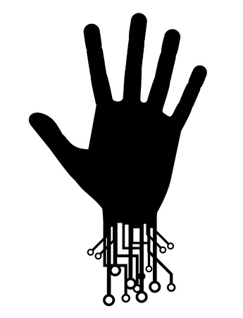 Hand tech Stock Vector - 11956001