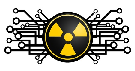 Radiation future energy Stock Vector - 11956018