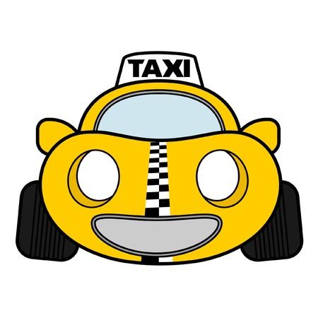 Taxi urbano divertido Ilustración de vector