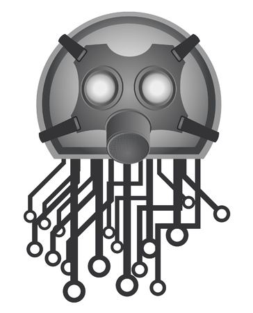Tech mask Vector