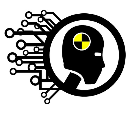 Human security tech icon