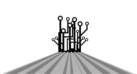 connexion: Art tech decorative Illustration