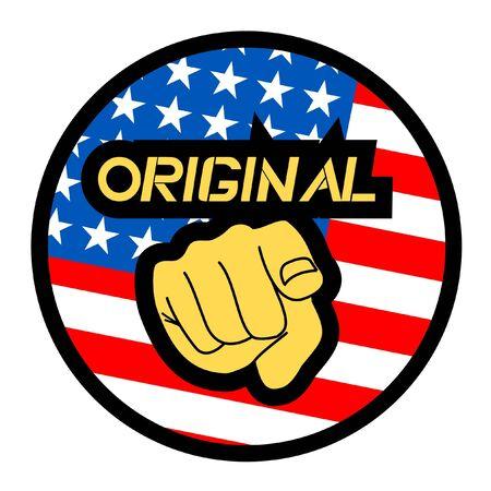Origianl american Stock Vector - 11956006