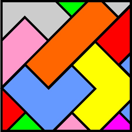 quadrant: Color pieces art wallpaper