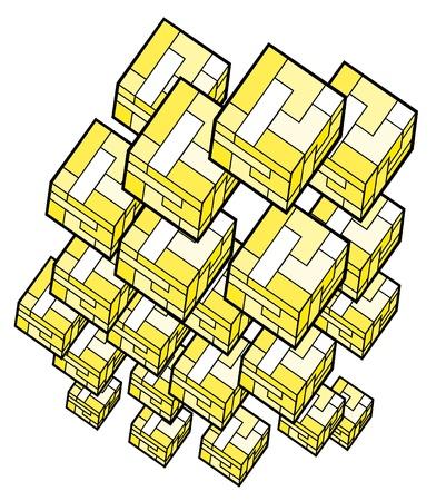 quadrant: Cubes abstract design