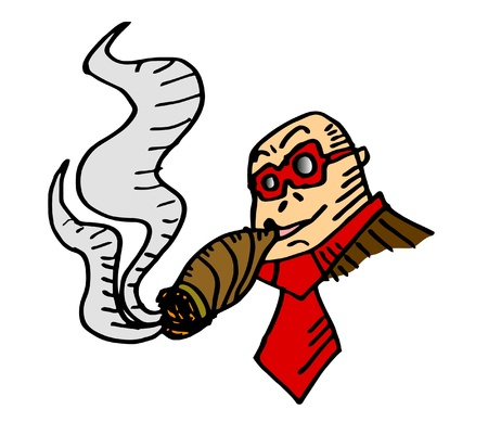 Smoke cartoon Illustration