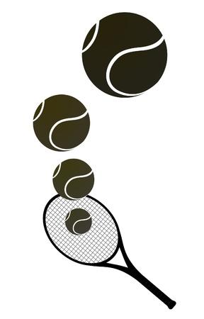 raqueta tenis: Tenis ilustraci�n