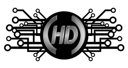 HD tech icon