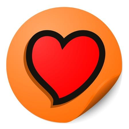 throb: Heart valentine tag