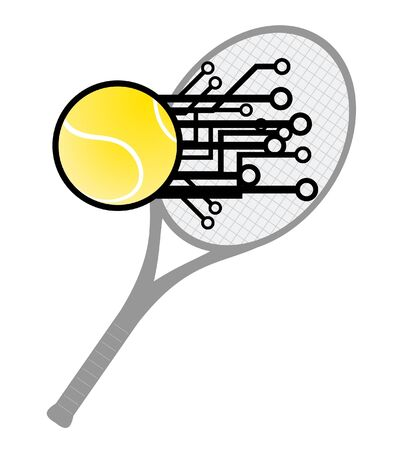 Modern tennis Stock Vector - 12047980