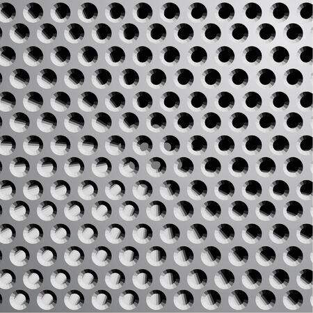 grille: Metal grille wallpaper Illustration
