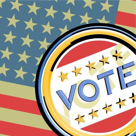 Vote American  Stock Vector - 12048007