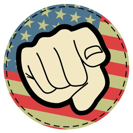 USA creative stick Vector