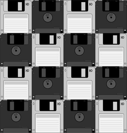 Diskettes wallpaper Stock Vector - 12247876