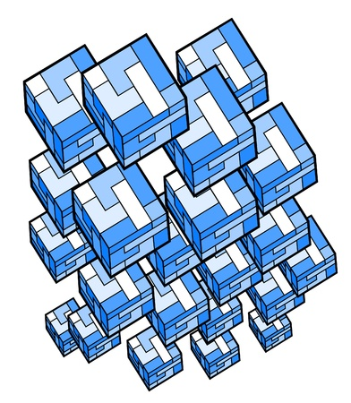 quadrant: Cube figure composition