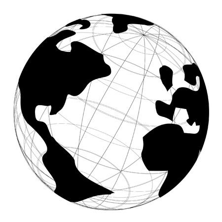 Global science symbol Vector