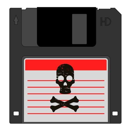 delincuencia: Peligro pirata de datos Vectores
