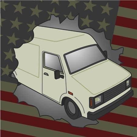 American van Stock Vector - 12248009
