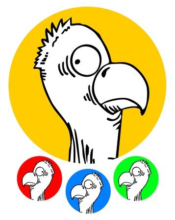 Funny bird icons Stock Vector - 12248003
