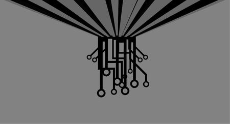 connexion: Art decoration Illustration