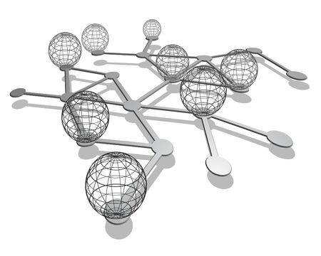 modernity: Global internet Illustration