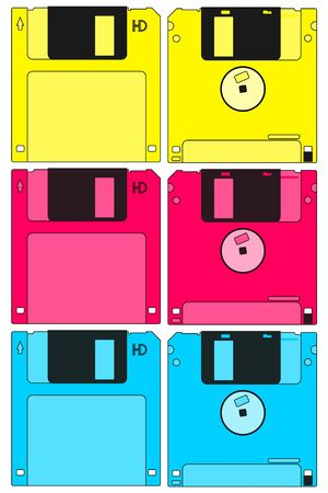 Color diskettes Stock Vector - 12247980