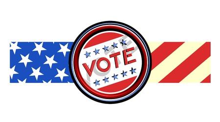 Vote ribbon Vector