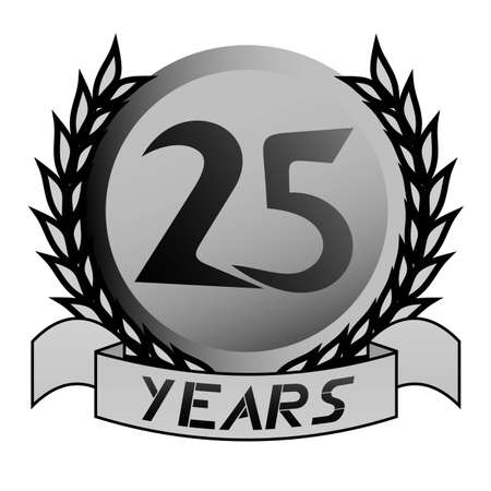 silver wedding anniversary: 25th emblem