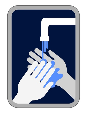 washroom: Lavarse las manos