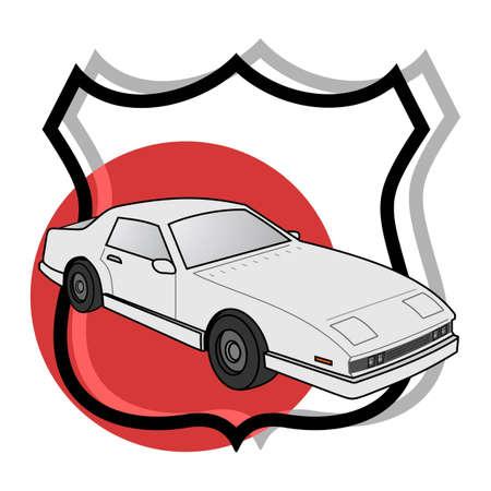 Cart emblem Stock Vector - 12484349