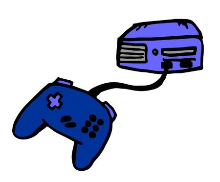 Kreskówki gry wideo Ilustracje wektorowe