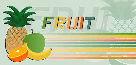 Fruit nature banner Stock Vector - 12484391