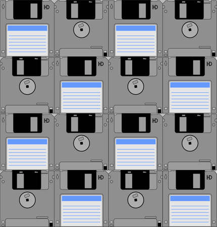 diskette: Diskette mosaic Illustration