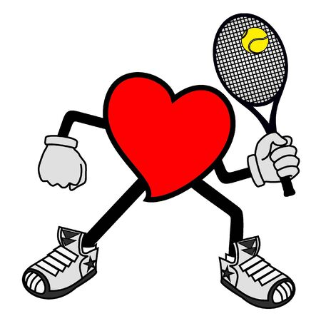 Heart tennis Stock Vector - 12484289