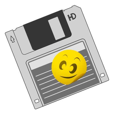 Smile diskette design Stock Vector - 12484189